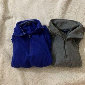 Lands End: Set of 2 Half Zip Pull Over Sweaters